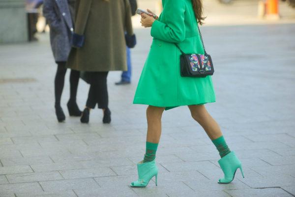 как сочетать пальто и туфли